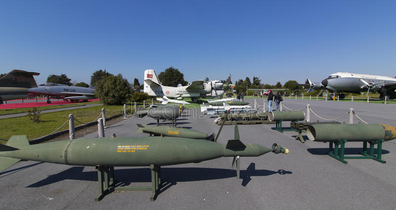 Museum of aviation in Istanbul royalty free stock image