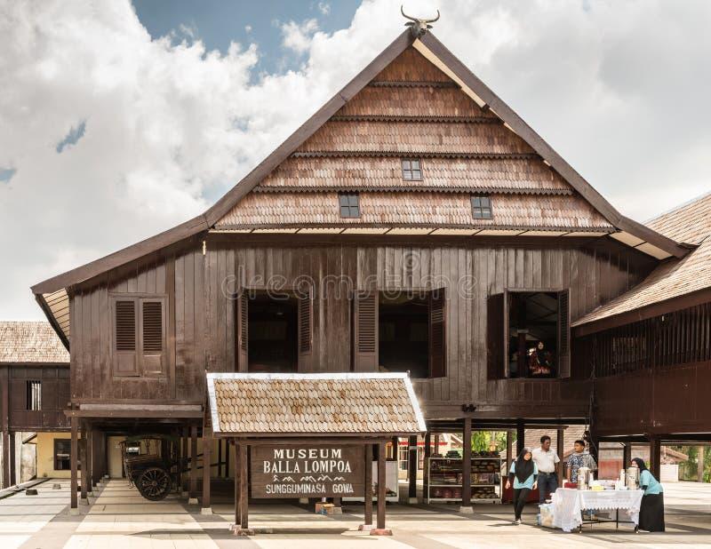 Museum Balla Lompoa i Makassar, södra Sulawesi, Indonesien royaltyfria foton