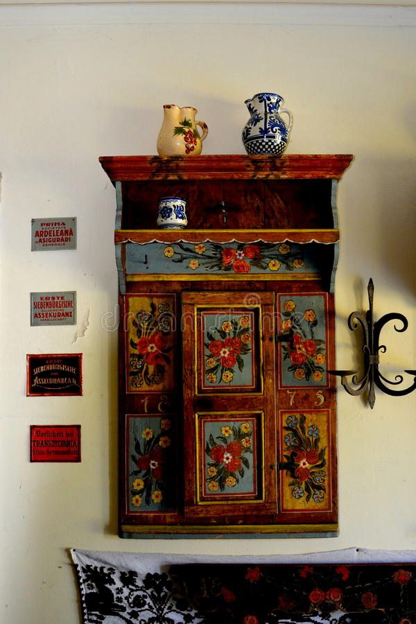 Museum of Baron von Brukenthal Palace in Avrig, Transylvania royalty free stock photo