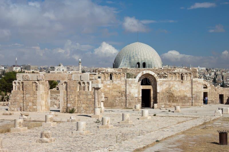Museum bij Citadel in Amman royalty-vrije stock afbeelding