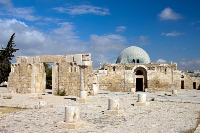 Museum bij Citadel in Amman stock afbeeldingen