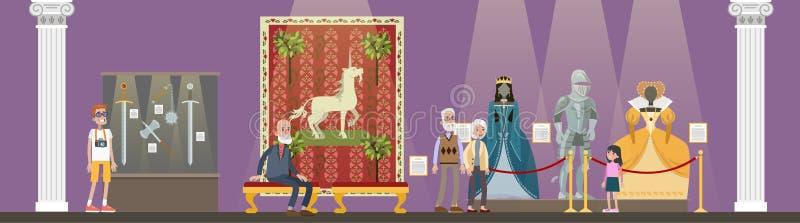 Museum binnenlandse illustratie vector illustratie
