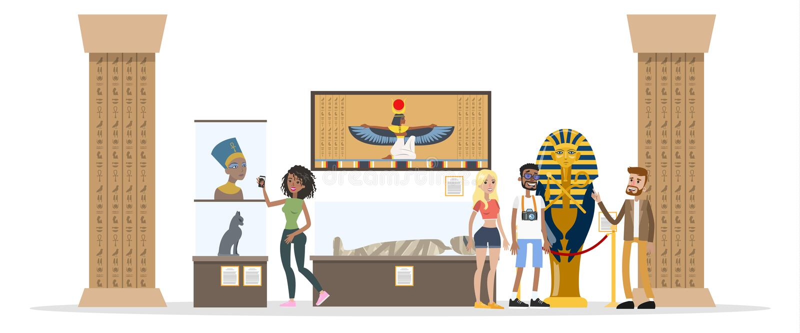 Museum binnenlandse illustratie stock illustratie