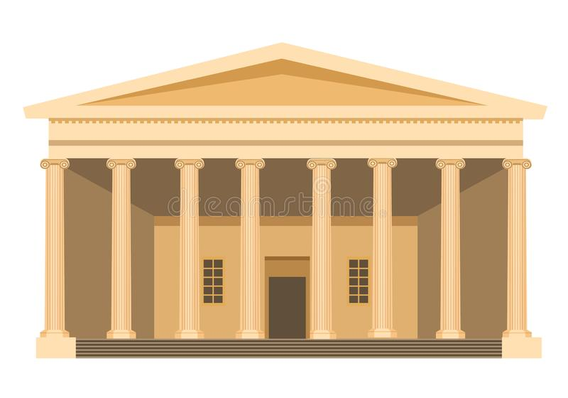 Museum building in London. Historical, archaeological Museum of British Empire. vector illustration