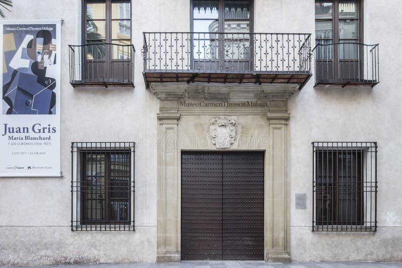 Museum Carmen Thyssen, historische Mitte von Màlaga, Spanien stockbild