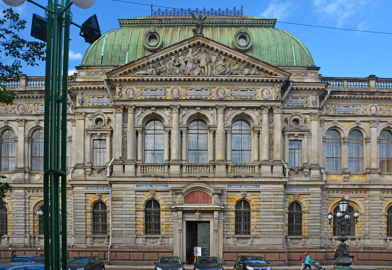 Museum of the Central school of technical drawing of the baron Shtiglits in Saint Petersburg, Russia stock photography