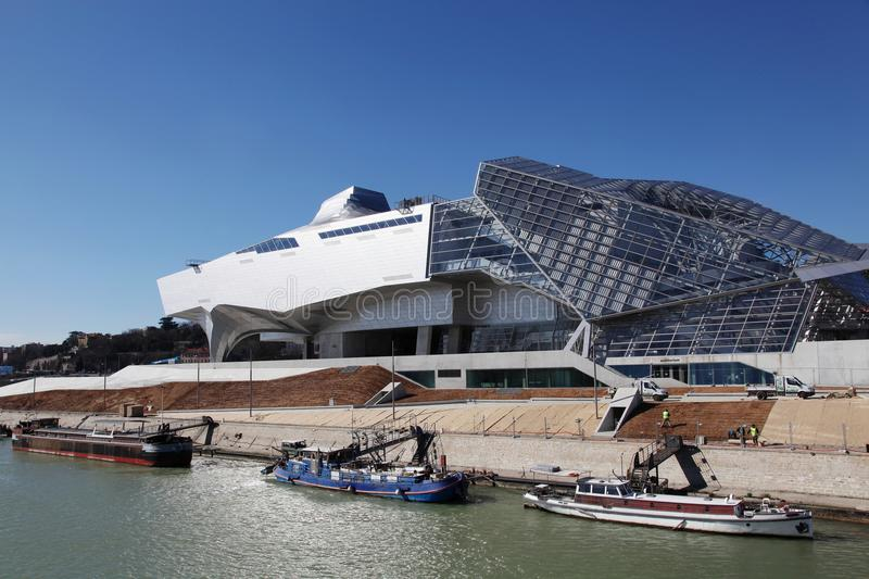 Museum of Confluences in Lyon royalty free stock photos