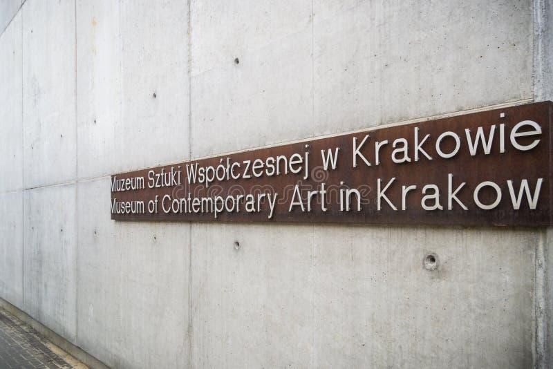 Museum of Contemporary Art in Krakow MOCAK royalty free stock image