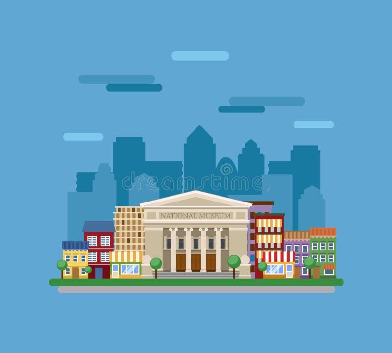 Download Museum in de stad vector illustratie. Illustratie bestaande uit illustratie - 54089061