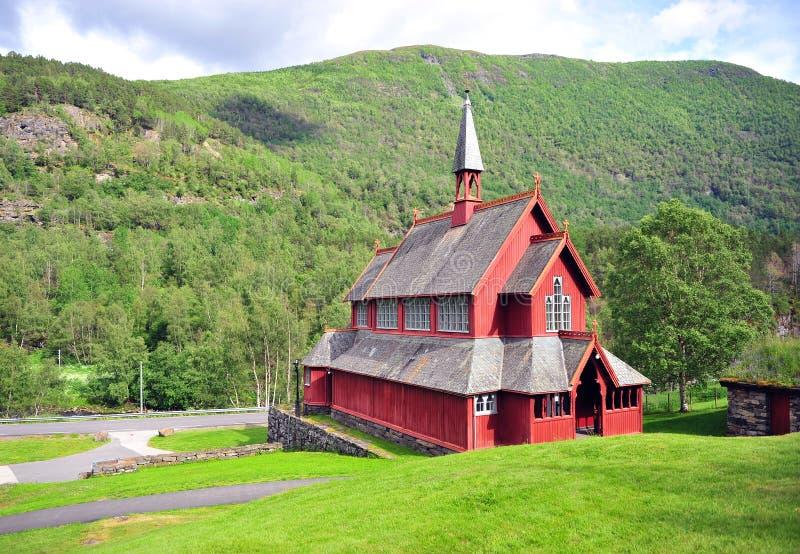 Museum an der Borgund-Daubenkirche, Norwegen lizenzfreies stockbild