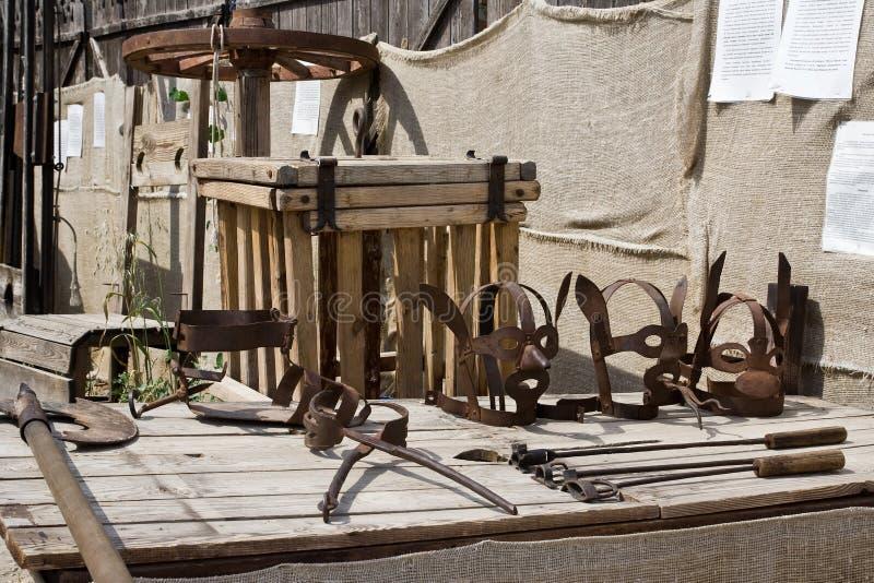 Museum der Folterung lizenzfreie stockfotos