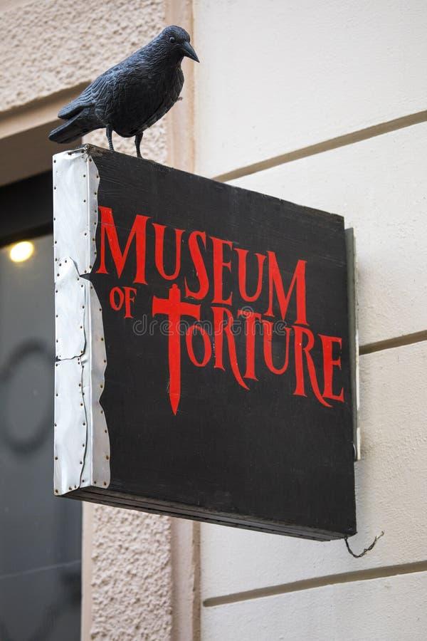 Museum der Folterung in Prag stockbild