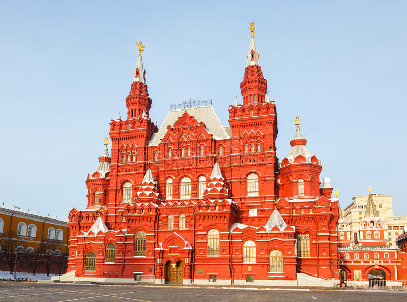 Museum der Geschichte auf rotem Quadrat in Moskau, Russland stockfoto