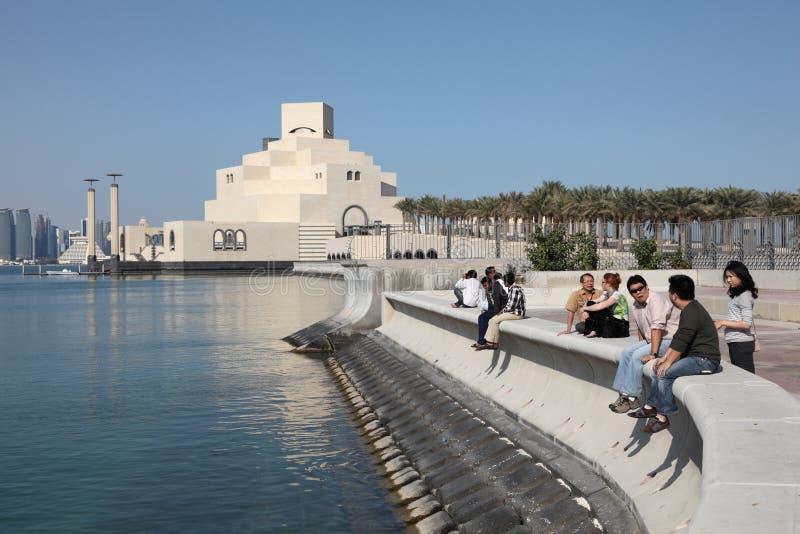 Museum der islamischen Kunst in Doha stockbild