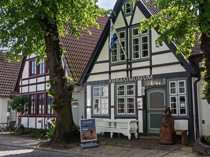 Museum der lokalen Geschichte in Rostock Warnemuende, Deutschland lizenzfreies stockbild
