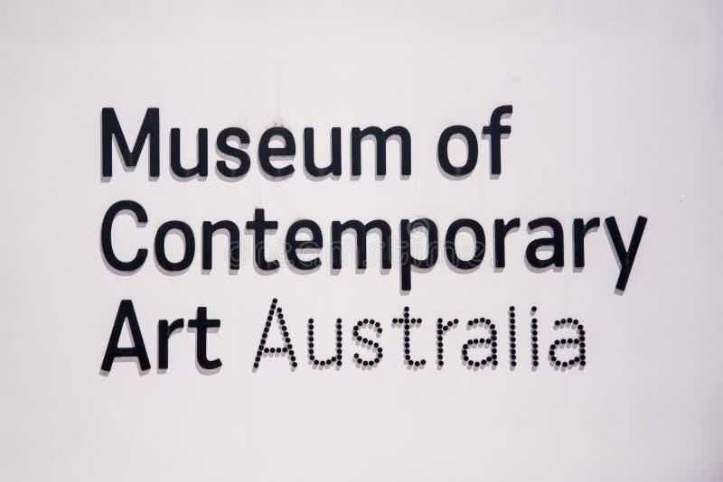 Museum der zeitgenössischer Kunst in Sydney, Australien stockfotos