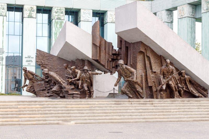 Museum des Warschau-Aufstiegs stockbilder