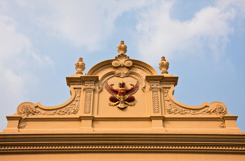 Museum Detail at Grand Palace royalty free stock photo