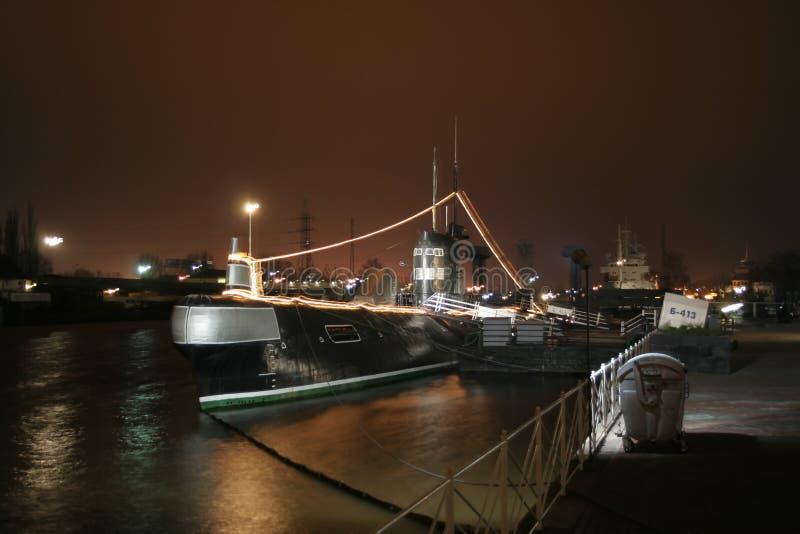 Museum - een militaire onderzeeër. Kaliningrad. Rusland royalty-vrije stock afbeelding