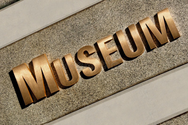 Museum Entrance Sign Stock Photography
