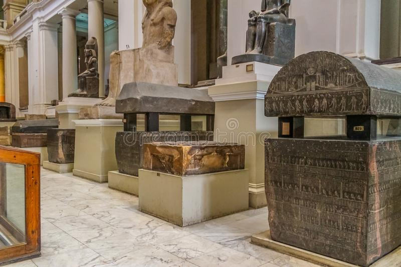 National Cairo Museum Expans dedicated to Ancient Egypt, Pharaohs, Mummies and Egyptian Pyramids. Museum Expans dedicated to Ancient Egypt, Pharaohs, Mummies and stock images