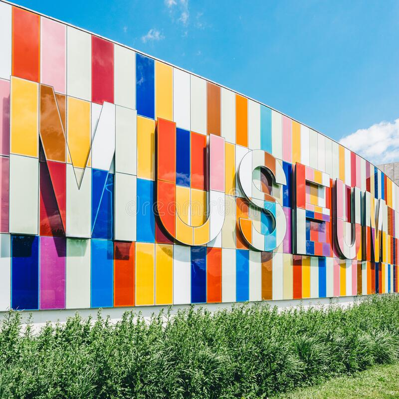 Museum exterior sign royalty free stock image