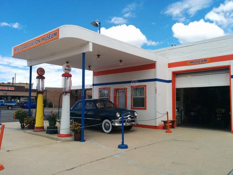 Museum för bensinstation för Pete ` s i Williams, Arizona arkivfoton