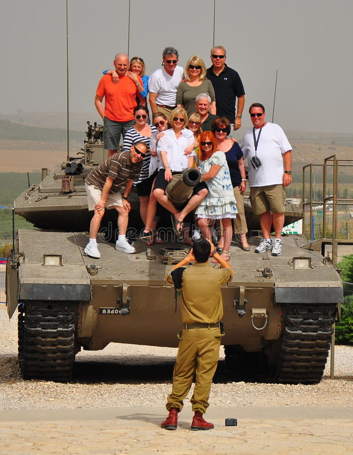 museum för israel latrunmilitär royaltyfri fotografi