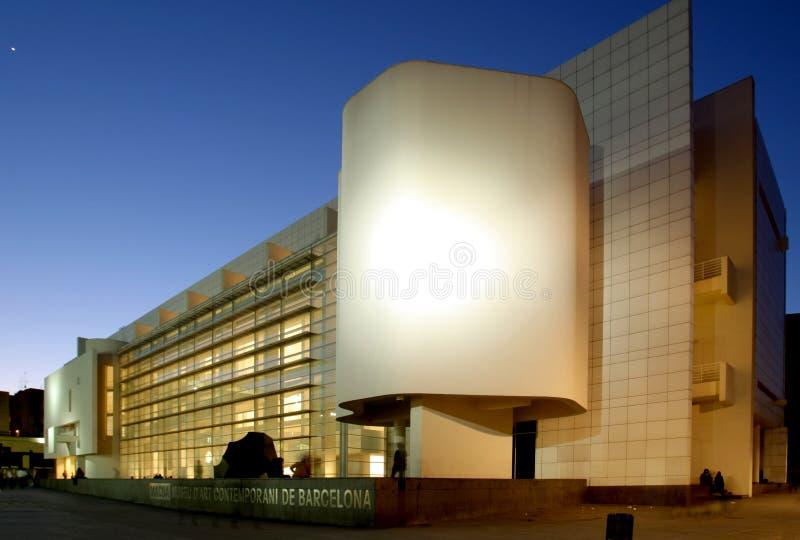 museum för konstbarcelona samtidat macba arkivbilder