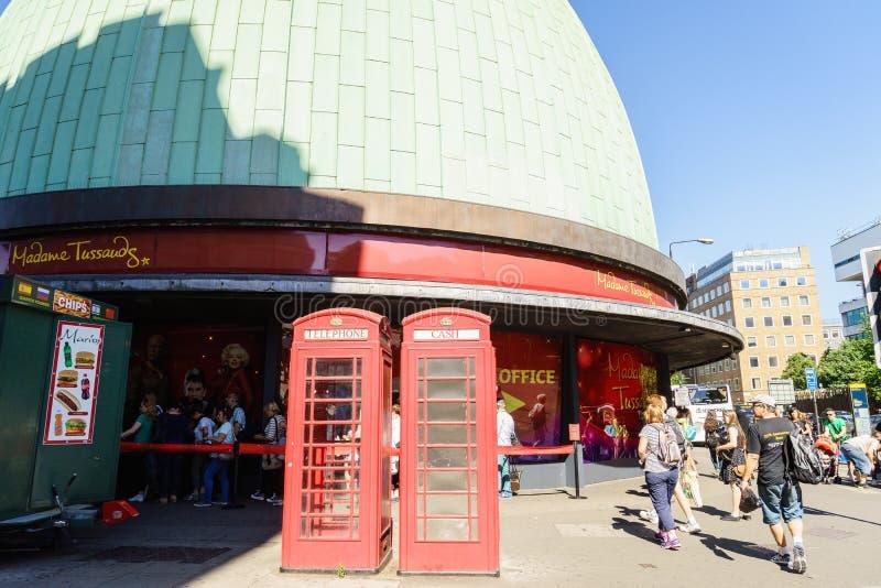 Museum för madam Tussauds i London fotografering för bildbyråer