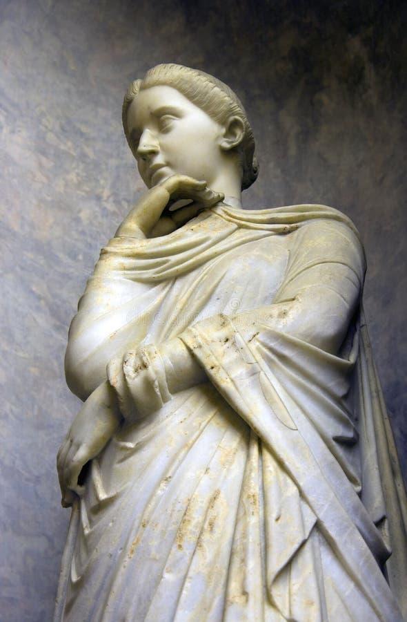 Museum för VaticanenItalien rome skulptur arkivfoto
