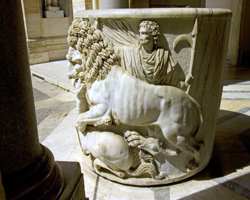 Museum för VaticanenItalien rome skulptur royaltyfri bild