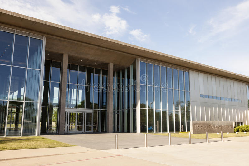 Museum für Moderne Kunst in Fort Worth, Texas, USA stockbilder