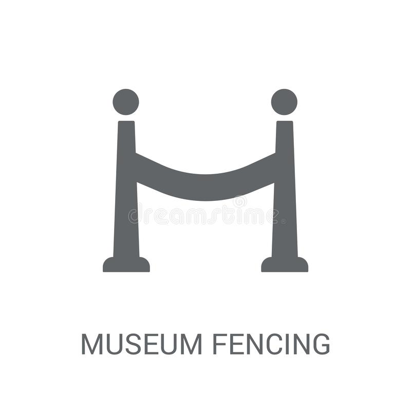 museum Fencing icon. Trendy museum Fencing logo concept on white vector illustration