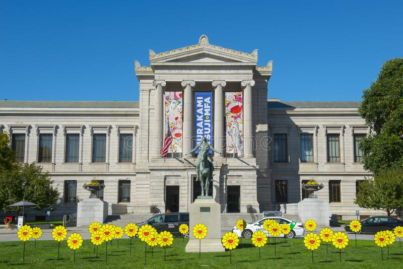 Museum of Fine Arts, Boston, Massachusetts, USA. Museum of Fine Arts and Appeal to the Great Spirit statue, Boston, Massachusetts, USA royalty free stock photography