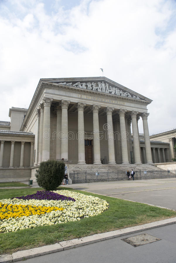 Museum of Fine Arts, Budapest stock photo