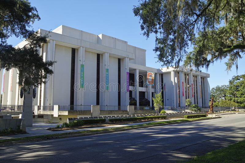 The Museum of Florida History, Tallahasse. Tallahassee, USA - October 24, 2017: The Museum of Florida History, State Library and Archives building, Florida State royalty free stock image
