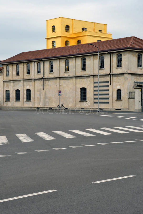 Museum Fondazione Prada (Prada-Grundlage) in Mailand, Italien lizenzfreie stockbilder