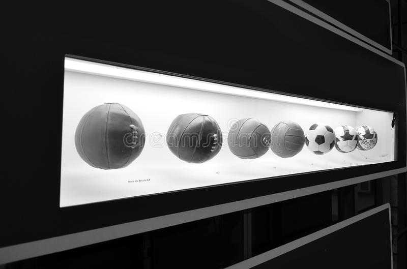 The museum of Football is a space devoted to the different subjects involving the practice, the history and cur, Sao Paulo, Brazi. Sao Paulo, Brazil: The museum royalty free stock image