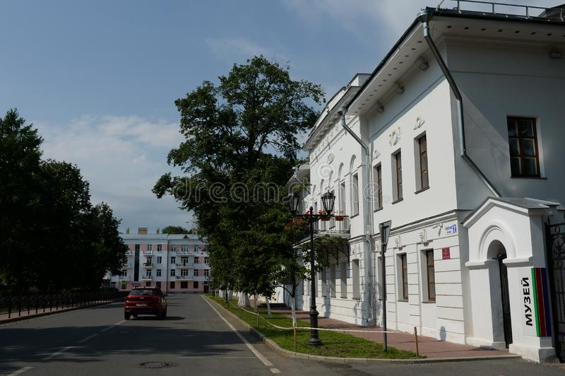 Museum of foreign art on the Soviet square of Yaroslavl stock photography