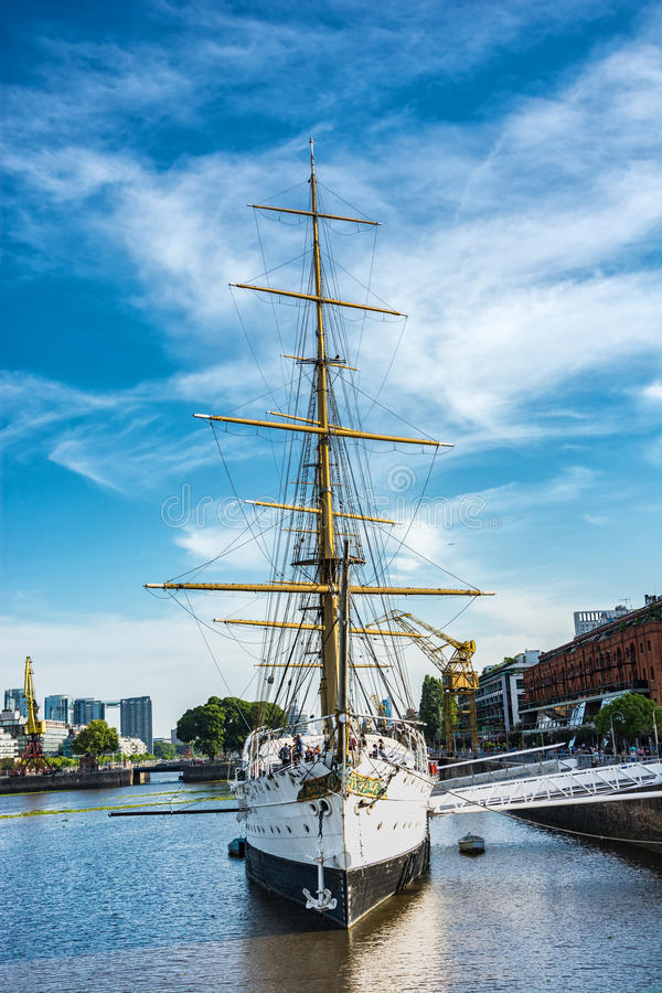 Museum Frigate Sarmiento President in Puerto Madero royalty free stock photography