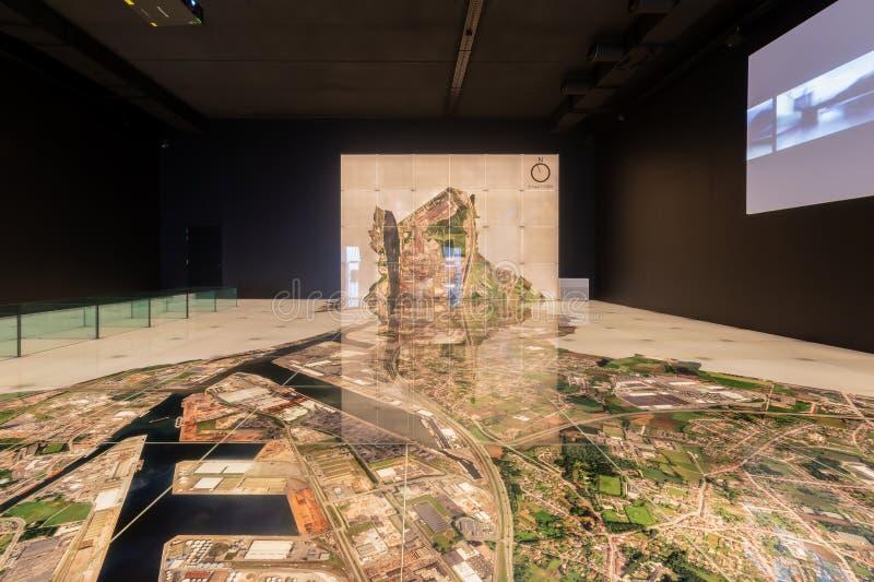 Museum an Gent-Innenraum lizenzfreie stockfotos