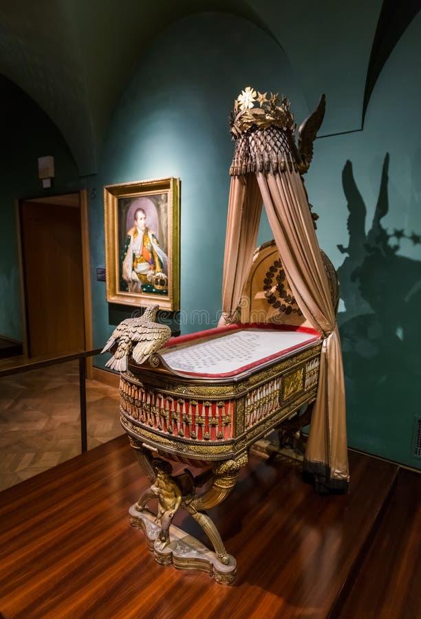 Museum in Hofburg-paleis in Wenen Oostenrijk stock afbeeldingen