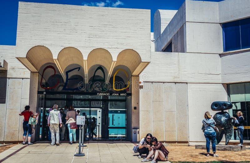 Museum i Barcelona arkivbild