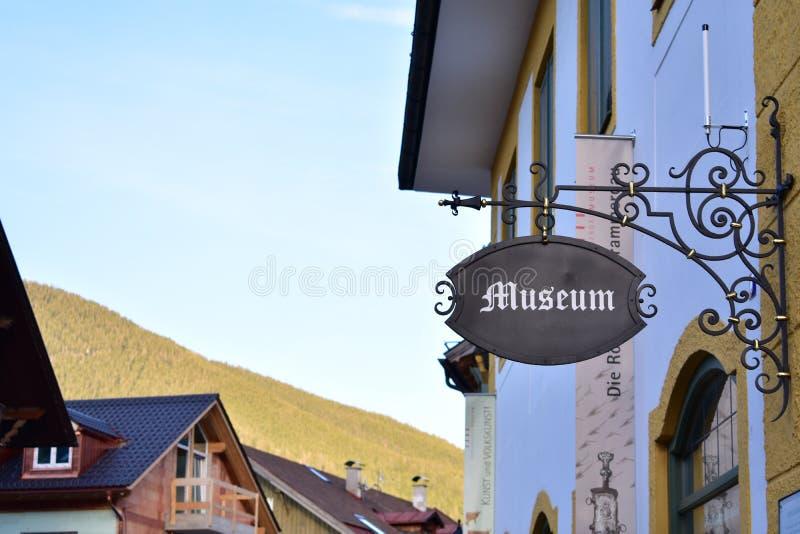Museum i Oberammergau arkivbild