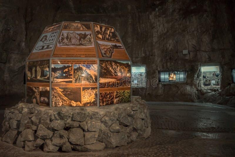 Museum i Praid den salta minen, Rumänien arkivfoto