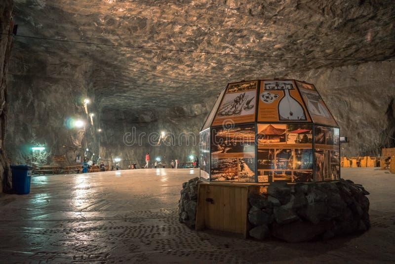 Museum i Praid den salta minen, Rumänien arkivbild