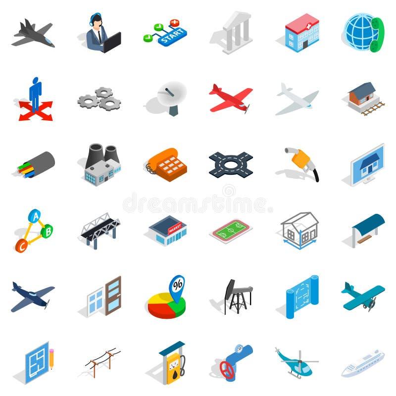 Museum icons set, isometric style. Museum icons set. Isometric style of 36 museum vector icons for web isolated on white background royalty free illustration