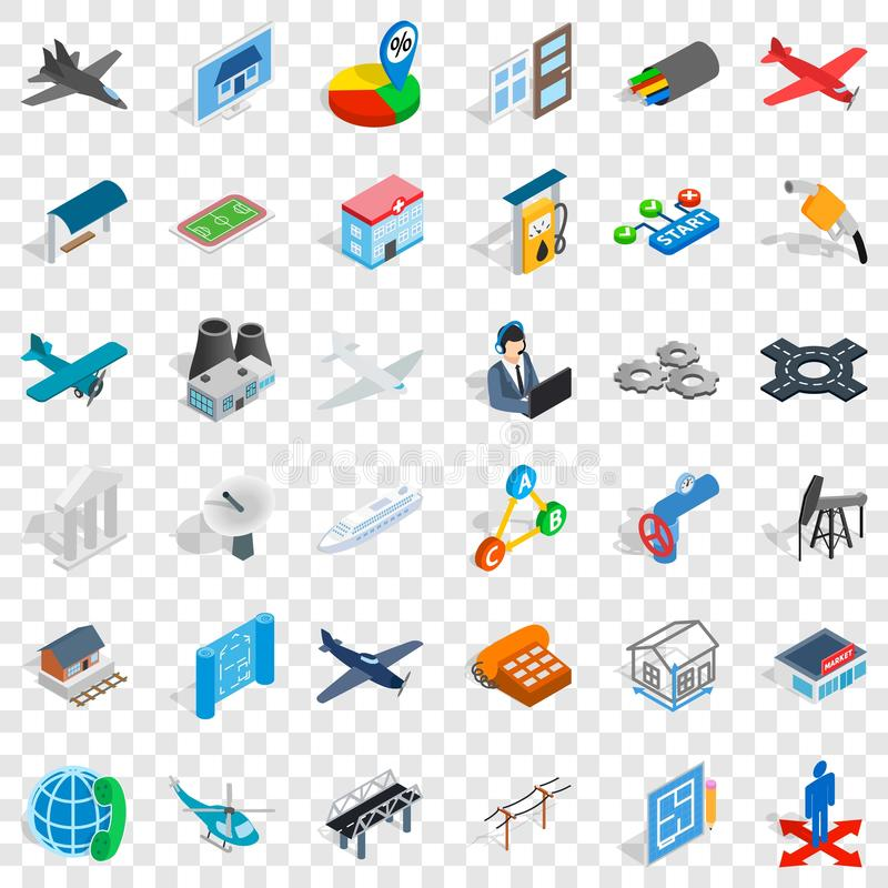 Museum icons set, isometric style. Museum icons set. Isometric style of 36 museum vector icons for web for any design vector illustration
