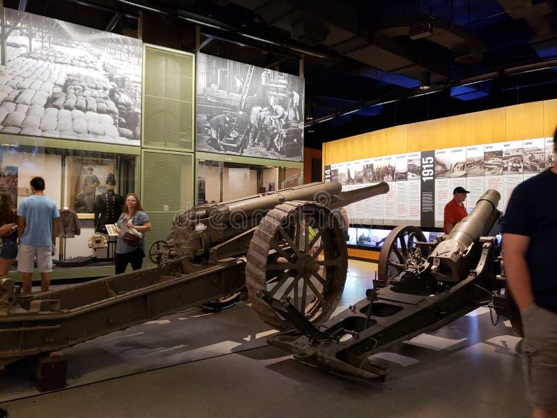 Museum inre Kansas Missouri USA för världskrig I fotografering för bildbyråer